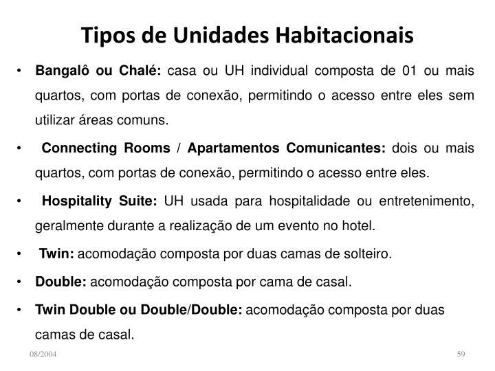 Tipos de Unidades Habitacionais