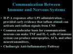 communication between immune and nervous systems