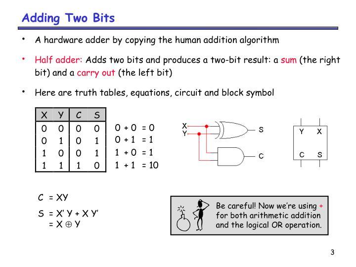 Adding two bits