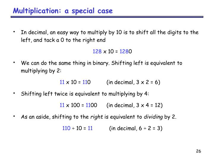 Multiplication: a special case