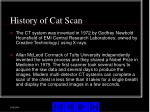 history of cat scan