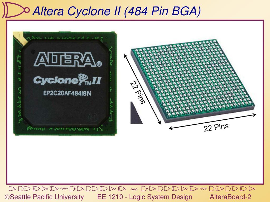 PPT - Altera Cyclone II (484 Pin BGA) PowerPoint