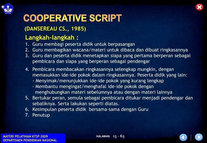 COOPERATIVE SCRIPT