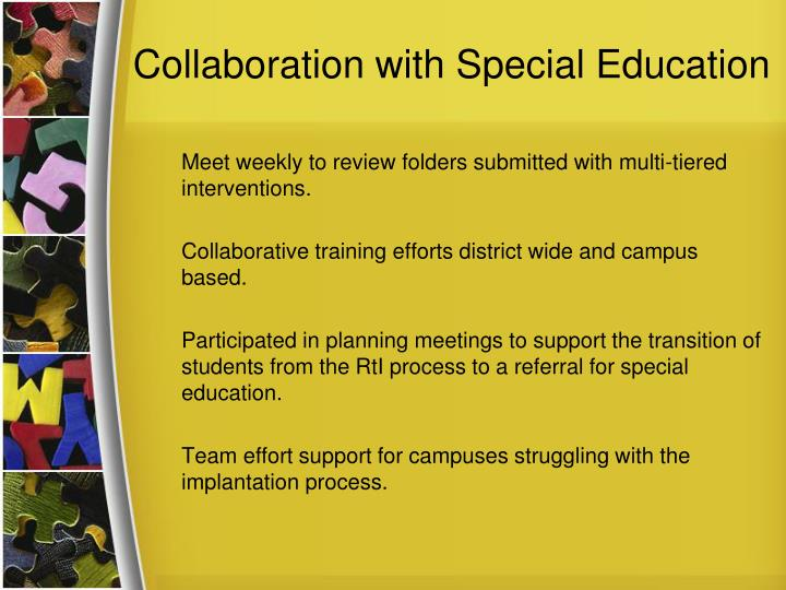 Collaboration with Special Education