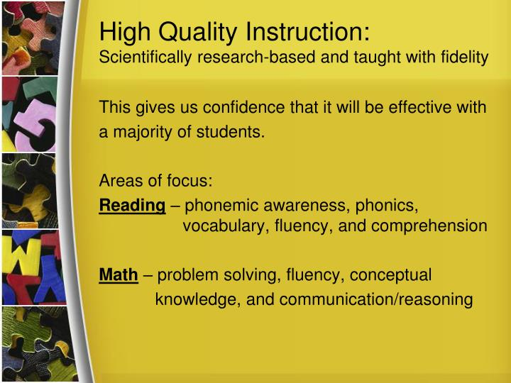 High Quality Instruction: