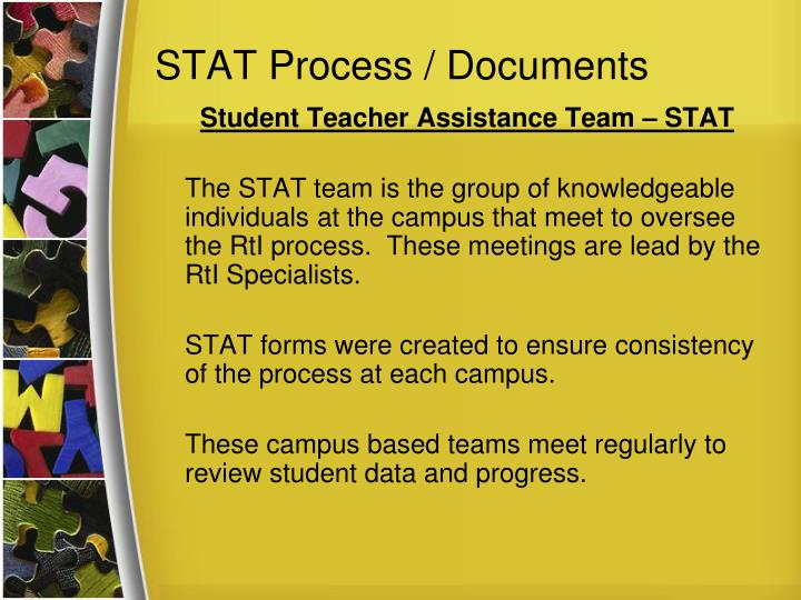 STAT Process / Documents