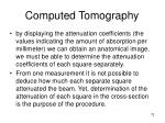 computed tomography72