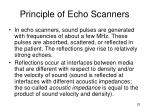 principle of echo scanners