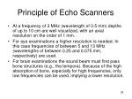 principle of echo scanners28