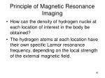 principle of magnetic resonance imaging