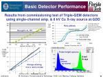 basic detector performance