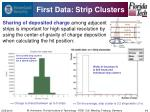 first data strip clusters