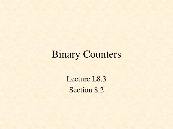 binary counters n.