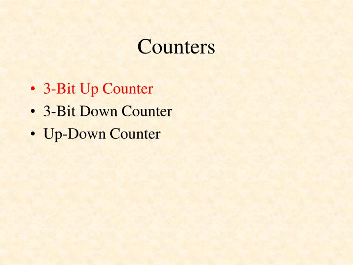Counters