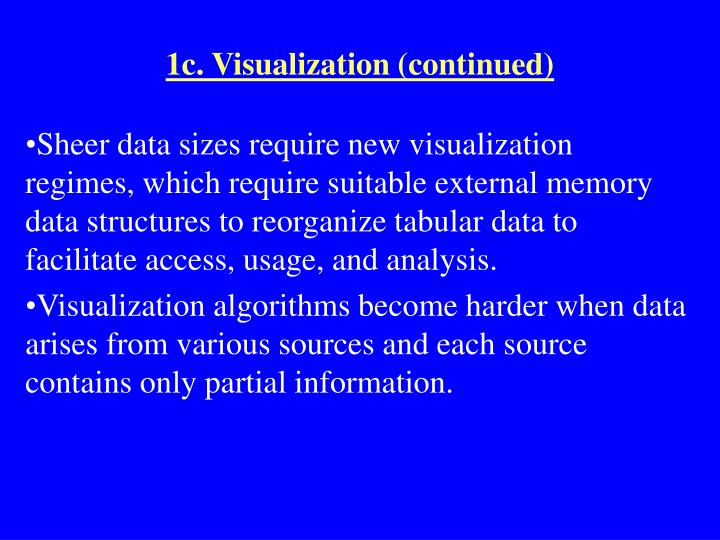 1c. Visualization (continued)