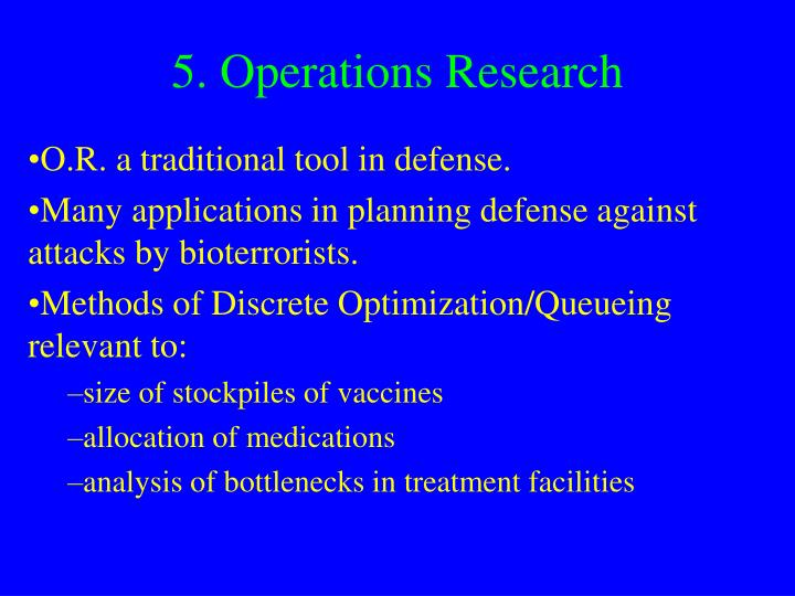 5. Operations Research