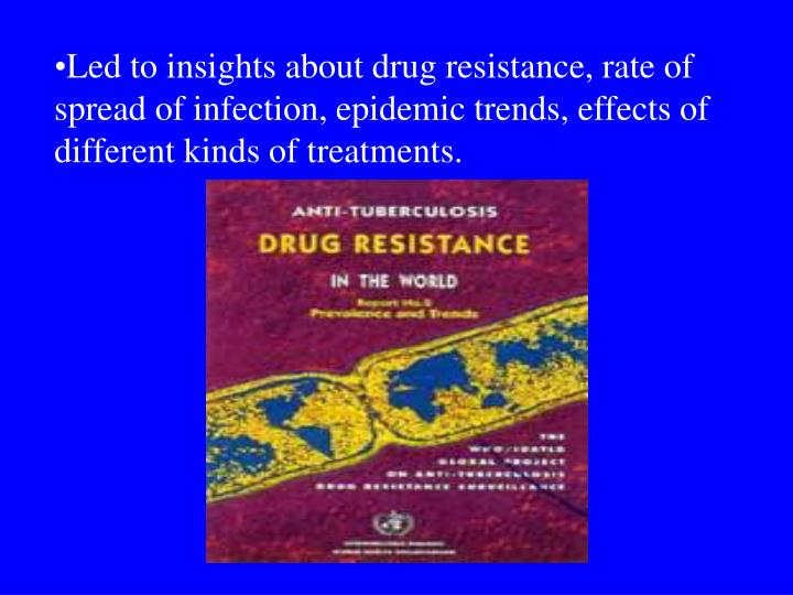 Led to insights about drug resistance, rate of spread of infection, epidemic trends, effects of different kinds of treatments.