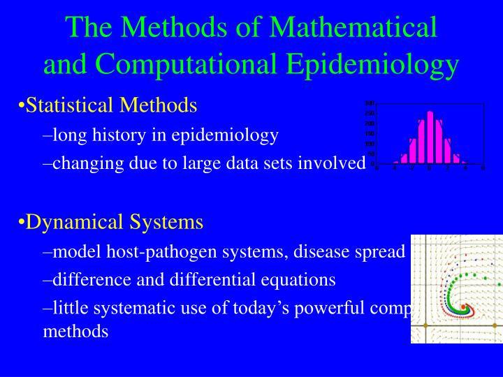 The Methods of Mathematical and Computational Epidemiology