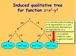induced qualitative tree for function z x 2 y 2