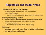 regression and model trees