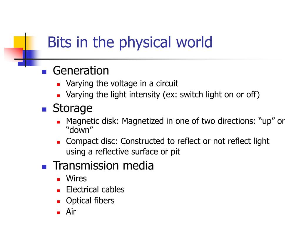 Bits in the physical world
