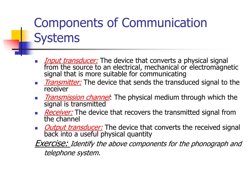 Components of Communication Systems