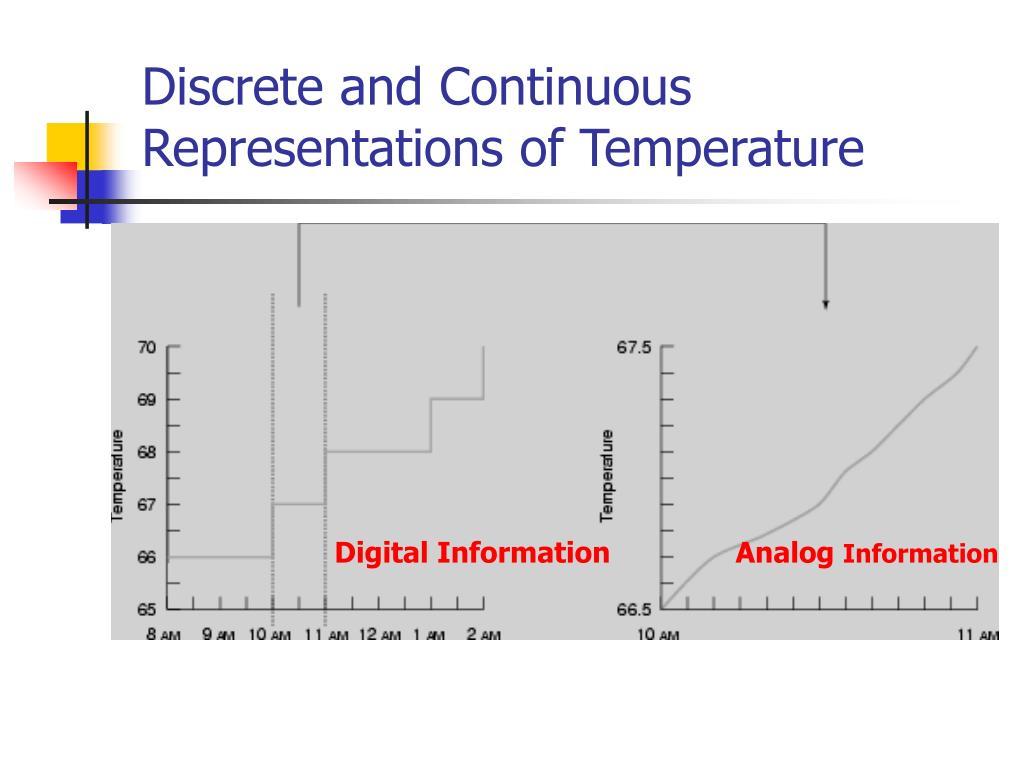 Discrete and Continuous Representations of Temperature
