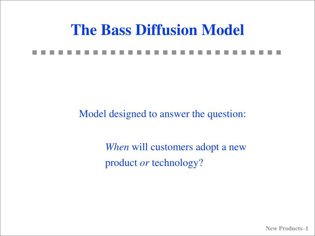 the bass diffusion model l.