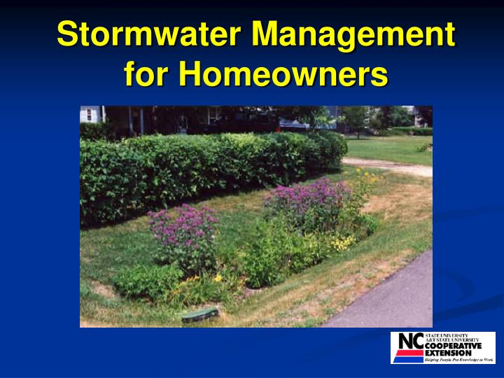 stormwater management for homeowners n.