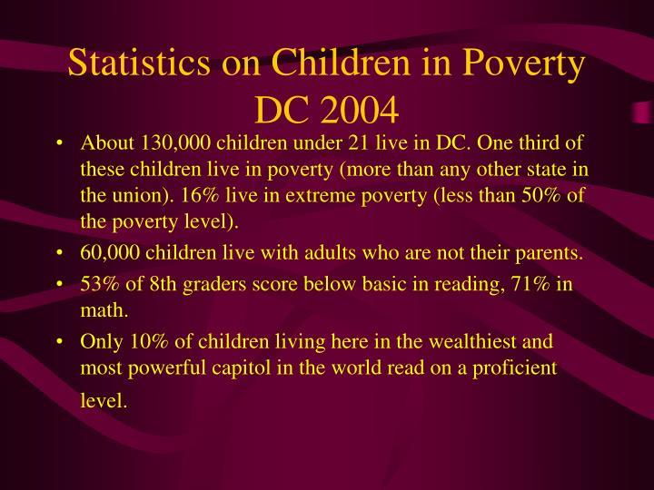 Statistics on Children in Poverty DC 2004