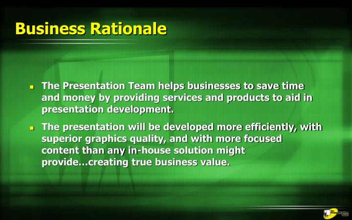 Business Rationale
