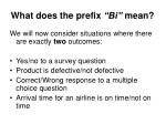 what does the prefix bi mean