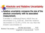 absolute and relative uncertainty1