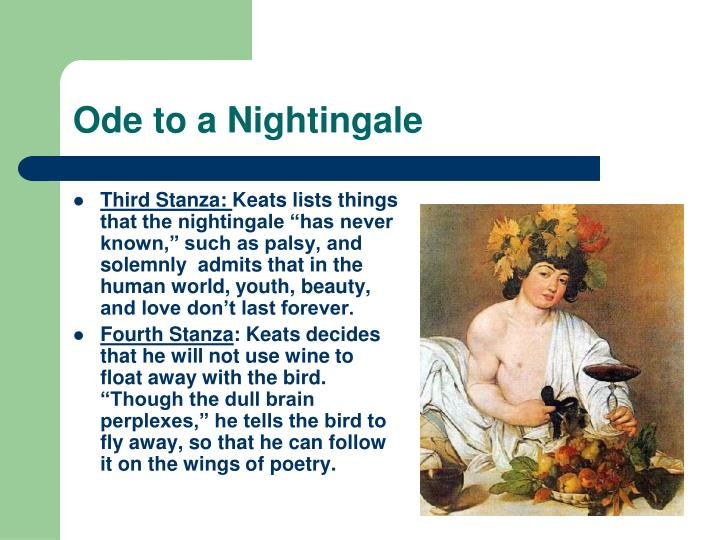 "permanence and transience in ode to a nightingale The main themes of the poem ""ode to a nightingale"" by john keats are illusion versus reality and transience versus eternity these themes are enhanced through motifs like drinking, dreaming and euphor (."