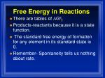 free energy in reactions3