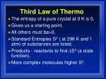 third law of thermo