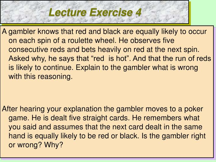 Lecture Exercise 4
