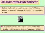 relative frequency concept