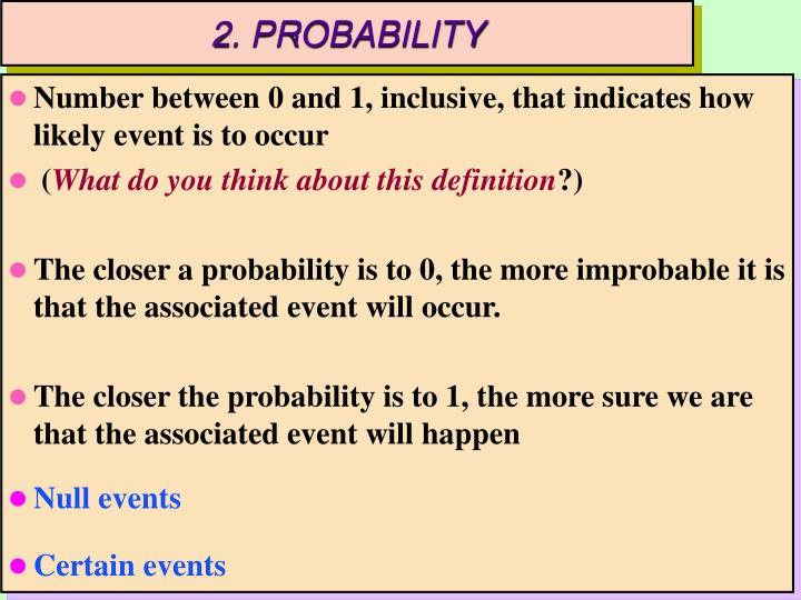 2. PROBABILITY