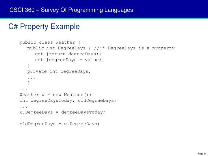 C# Property Example