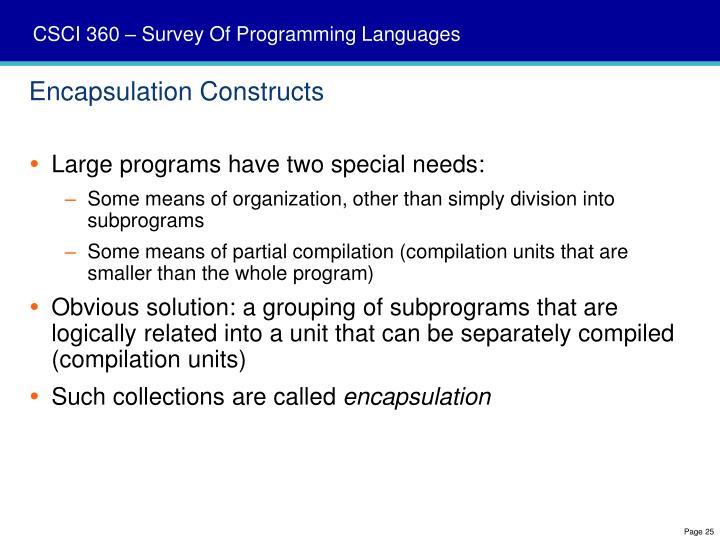 Encapsulation Constructs