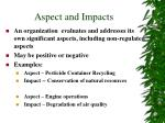 aspect and impacts