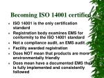 becoming iso 14001 certified