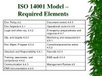 iso 14001 model required elements