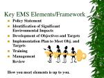 key ems elements framework