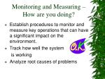 monitoring and measuring how are you doing