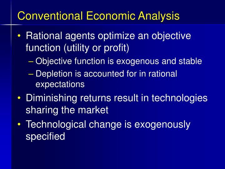 Conventional Economic Analysis