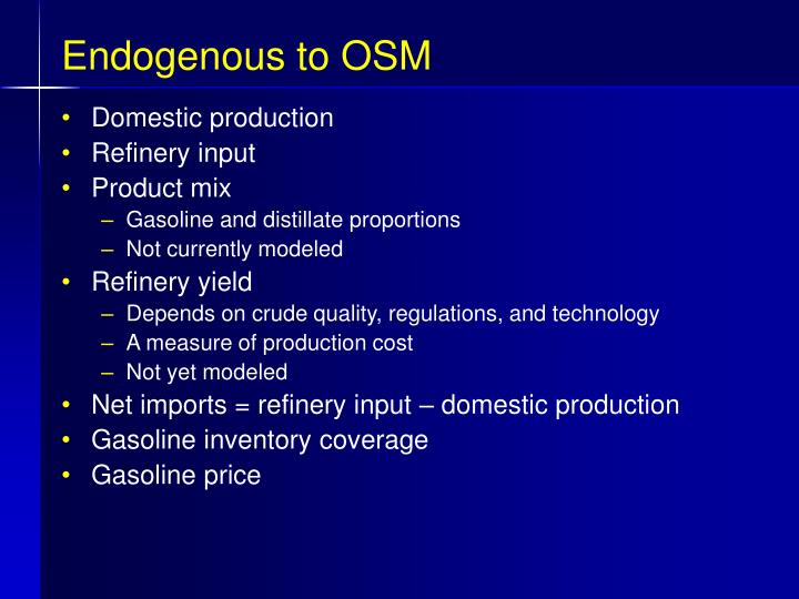 Endogenous to OSM