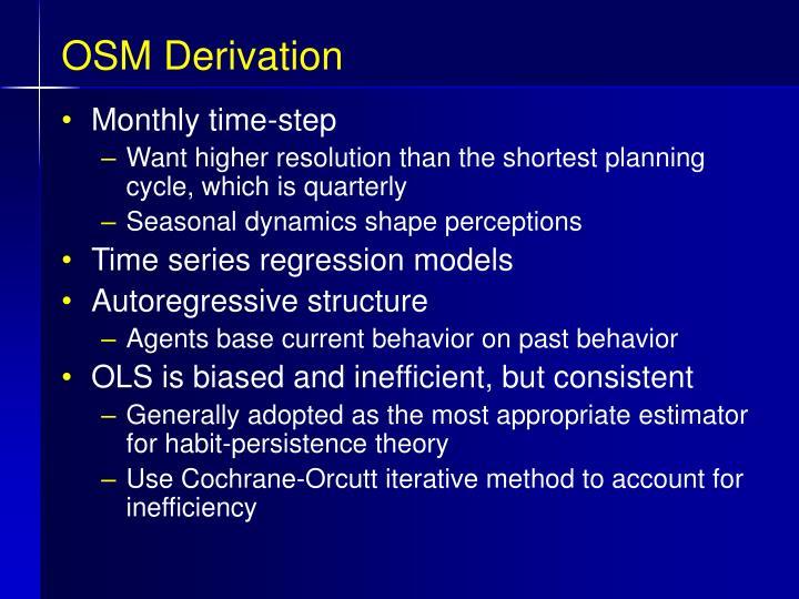 OSM Derivation