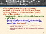profit sharing strategic trade policy